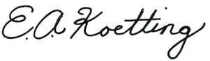 Signature E.A. Koetting