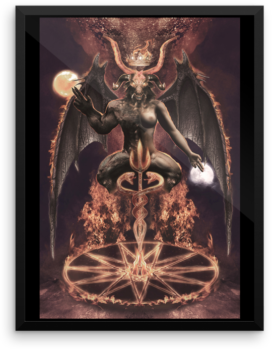 Baphomet Occult Demon Art Asenath Mason
