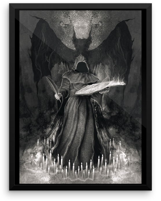 Lucifer The Dark Initiator Occult Demon Art Asenath Mason