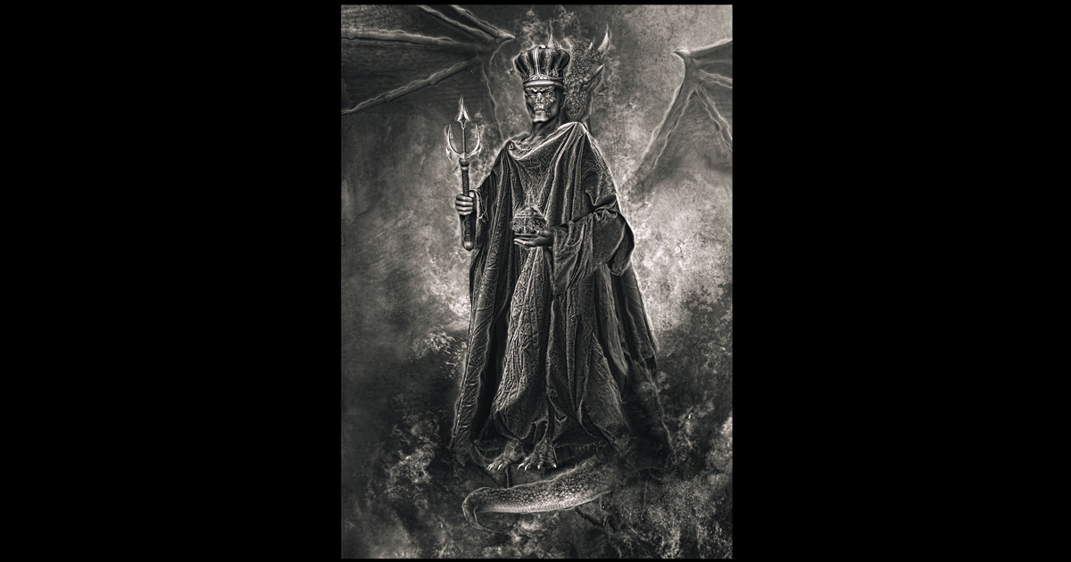 Lucifer The Emperor Of Hell Occult Demon Art Asenath