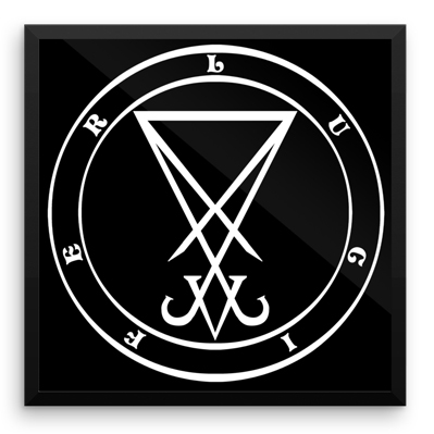 Lucifer The Enlightener Framed Demon Sigil Become A