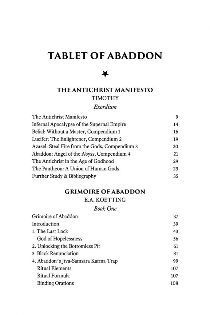 Abaddon: The Angel Of The Abyss, Compendium 4 | Nine Demonic